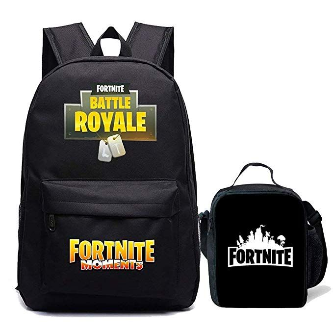 c232d7eb7a85 Amazon.com: Kids Fortnite Backpack Lunch Box For School Travel Green ...