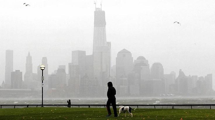 Tältä New Yorkin pilvenpiirtäjät näyttävät New Jerseyn Hobokenista käsin.