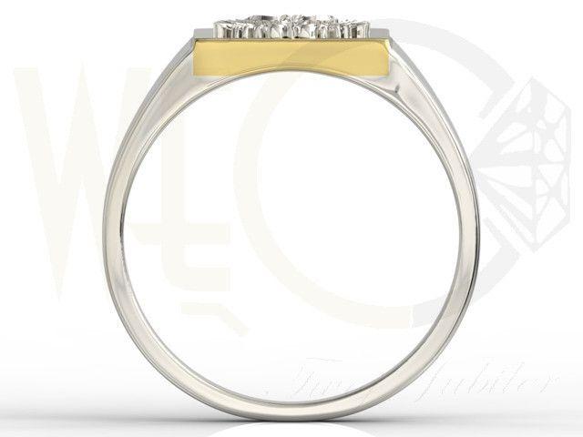 Sygnet z białego i żółtego złota z orłem / Signet ring made from yellow gold / 1957 PLN #signet_ring #gold #jewelry #jewellery #man #sygnet #bizuteria #zloto