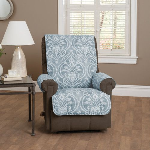 Add a pretty touch to your living room with this Innovative Textile Solutions Diana recliner wing chair protector. & 12 best Slip Covers images on Pinterest   Recliner cover Recliner ... islam-shia.org
