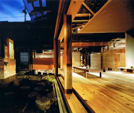 I've always loved the idea of an open room exposed to the elements. Wood Old House by Tadashi Yoshimura Architects