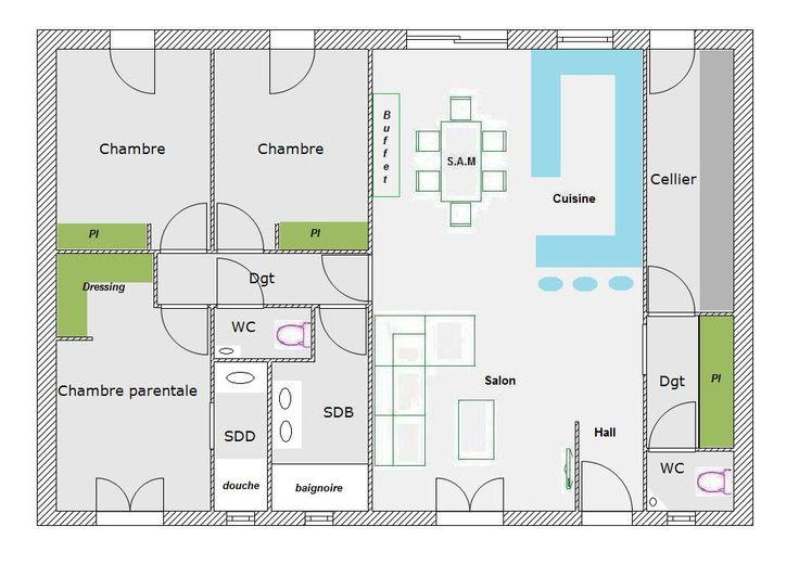 Les 307 meilleures images propos de maison sur pinterest plans de maison nantes et haus for Plan amenagement maison