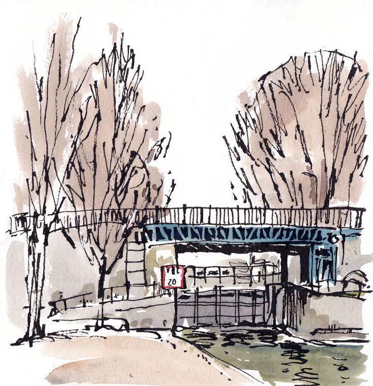 Paris canal st martin urban sketch pinterest for Gimnasio 9 y 57