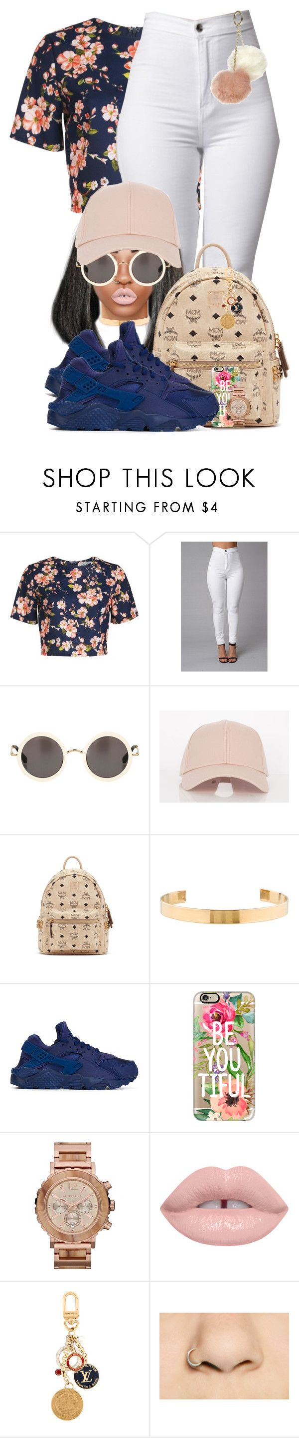 Rambo by chiamaka-ikaraoha on Polyvore featuring Alice & You, NIKE, MCM, Michael Kors, Jennifer Fisher, Dorothy Perkins, Casetify and Louis Vuitton