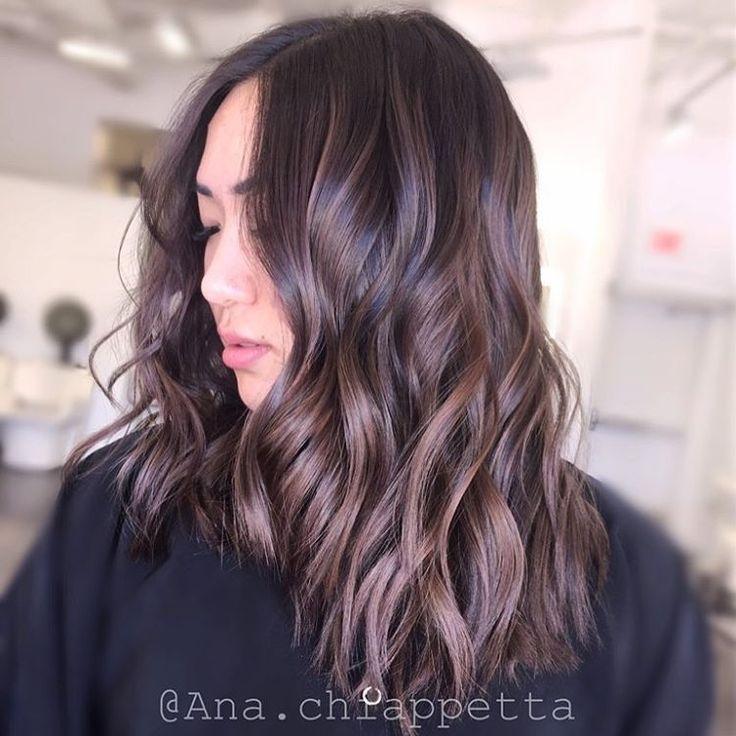 "Ana Chiappetta on Instagram: ""Cut by @mklstylist #balayage #cristophesalon #newportbeach #fashionisland #orangecounty #brunette #americansalon #behindthechair #highlights #sombre #curls #style #hair #hairporn #haircolor #hairstyle #color #beauty #loreal #redken #fashion #sexyhair #california #modernsalon #model #oc #ashy #hairbrained #california #darkbrown"""