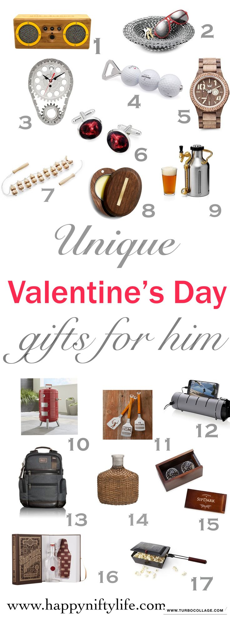 Interesting gift ideas for your husband or boyfriend this Valentine's Day. This gift guide is suitable for all budgets and includes some great ideas for spoiling your man. #valentinesday #giftsforhim #giftideas
