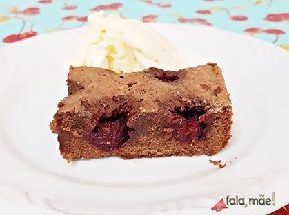 Receita de Brownie de chocolate ao leite com framboesas