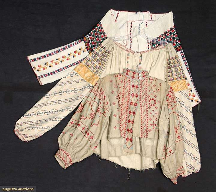 Three Regional Blouses, 1850-1899, Augusta Auctions, April 9, 2014 - NYC