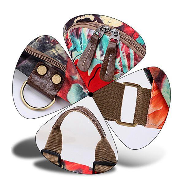 Multifunctional Flower Pattern Waterproof Bag Backpack Shoulder Bags Handbag For - US$30.90  #women  #bags #fashion