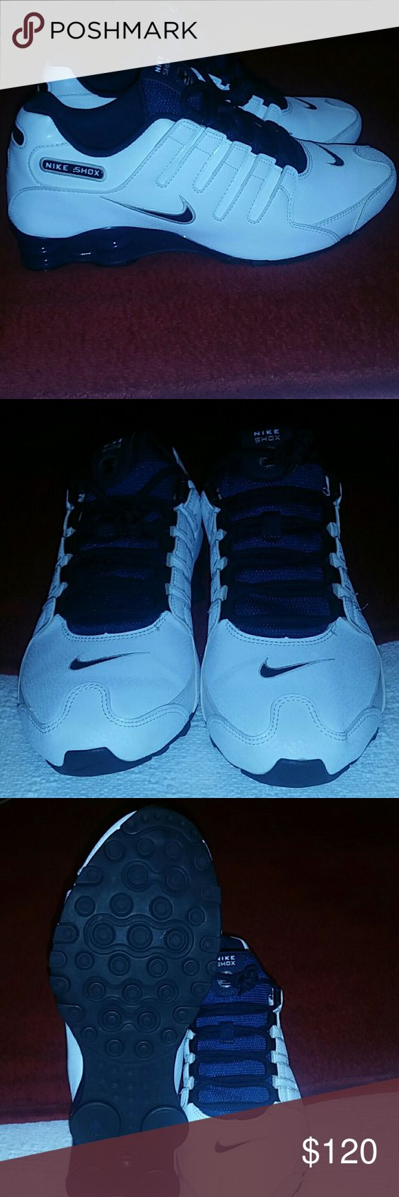 Nike Shox NZ Nike Shox NZ EU 501524-105 White Black Blue Obsidian Silver Mens Shoes Excellent condition No bends at toebox Nike Shoes Sneakers