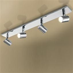 HiB Quartet Four Multi-angled Brushed LED Spotlight