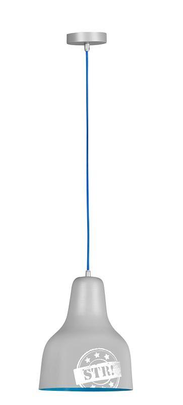 Hanglamp Ties: stoere lamp voor de kinderkamer, ook in blauw verkrijgbaar #verlichting #boysroom