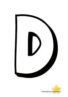 Letra d para imprimir