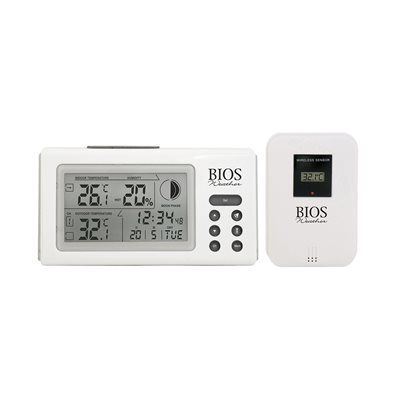 Bios 312BC Digital Indoor/Outdoor Thermometer and Hygrometer