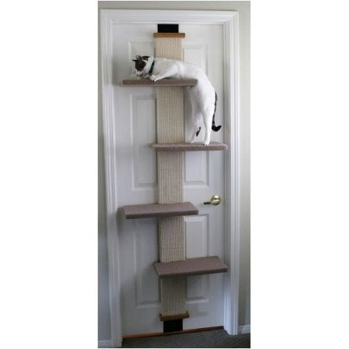 Why didn't someone think of this sooner?. Designed to hang on any standard door in your home, the Cat Climber from is the perfect choice for smaller homes or people who don't want to swap an end table for a traditional cat tree. | eBay!