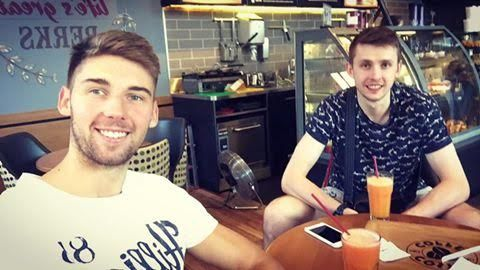 Bartosz Bednorz and Mateusz Bieniek #volleyball #coffee #coffeetime