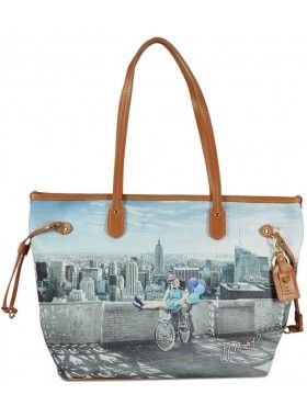Carla Mosse Creations Y Not? Bicycle Print Leather Bag. Buy @ http://thehubmarketplace.com/LADY-Y-NOT