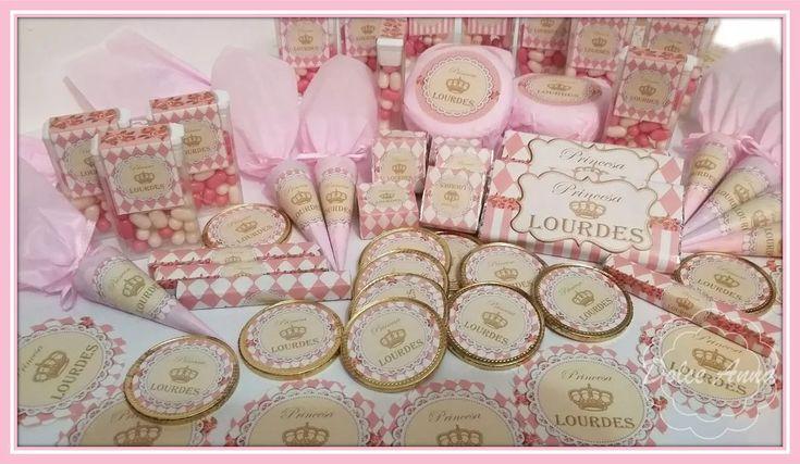 Candy Bar Princesas Corona Dorada Golosinas Personalizadas - $ 99,00 en Mercado Libre