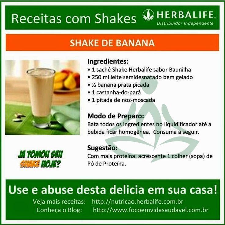 Receitas com Shake Herbalife, deliciosas! Use e abuse em casa, no trabalho, onde quiser!