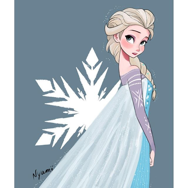 Elsa by Nyamo  She looks so pretty and PERFECT here