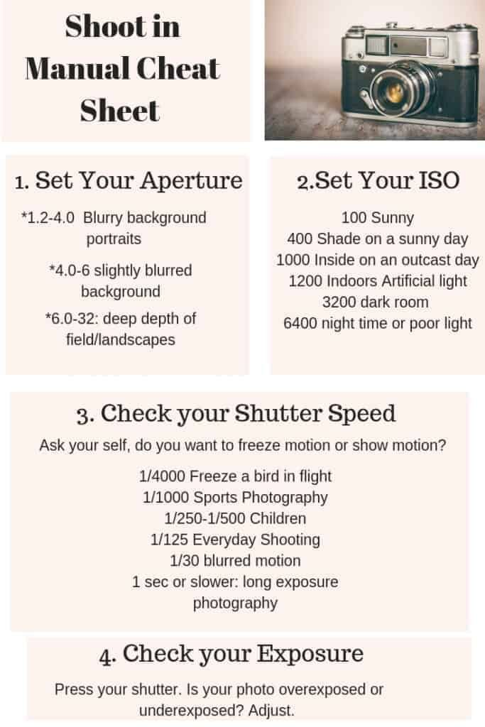 Get Off Auto And Shoot In Manual Mode In 2020 Manual Photography Photography Cheat Sheets Photography Basics