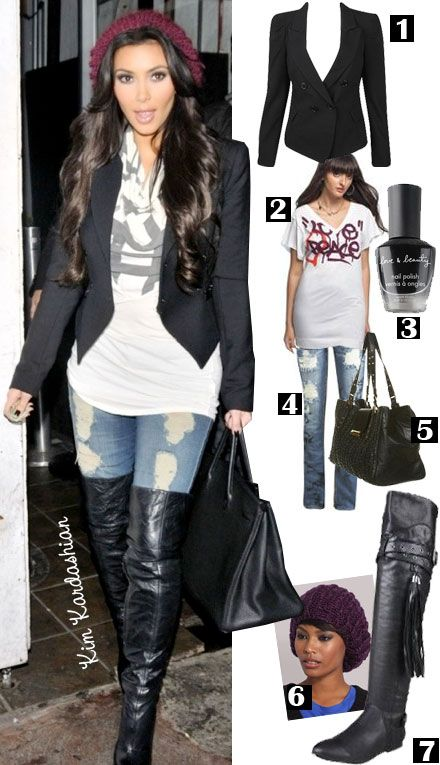 Love this outfit comfy with a blazer!! Kardashian SlouchyKim