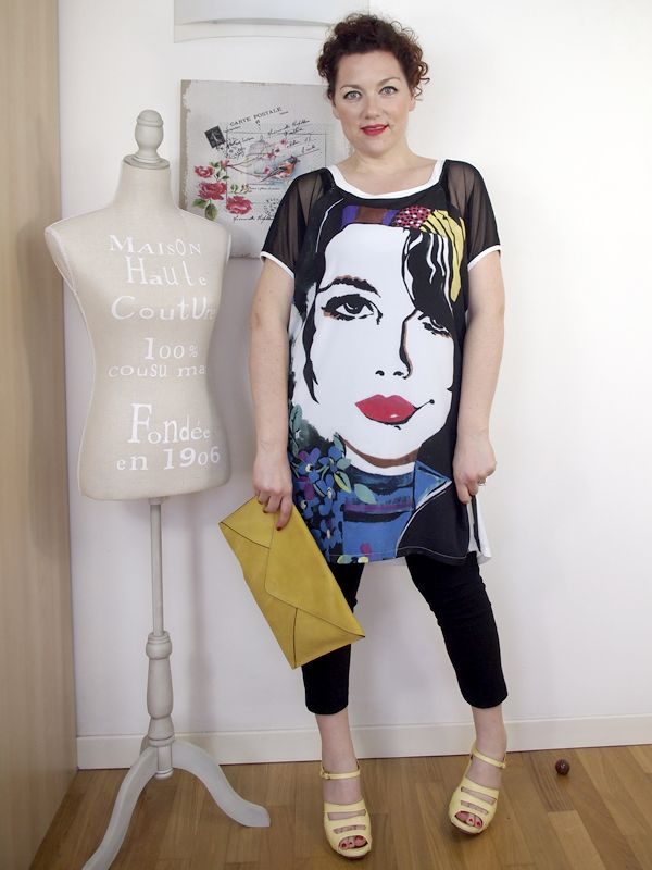 #curvy #outfit #tunic #faceprint #pop #popart
