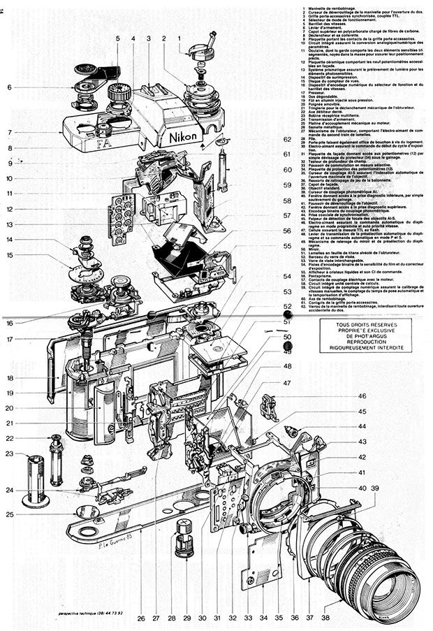 These Schematics Offer an Exploded View of Old Nikon SLR Cameras - PetaPixel
