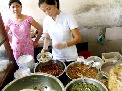 Eating Vietnamese food