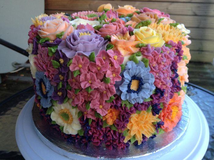 Amazing flower cake | wonderfully decorated cakes | Pinterest - photo#19