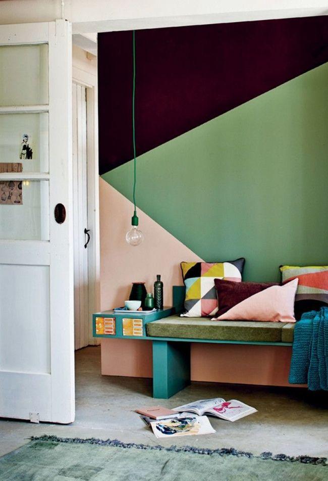 42 best déco murs images on Pinterest Bedroom, Bedroom ideas and - preparer un mur pour peindre