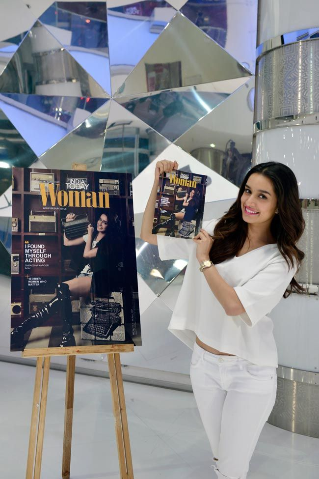 Love the #Blouse: @shraddhakapoor unveils @indiatoday Woman's anniversary issue.