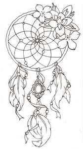 Ink Outline- 3-Feather Dream Catcher w/Pendant
