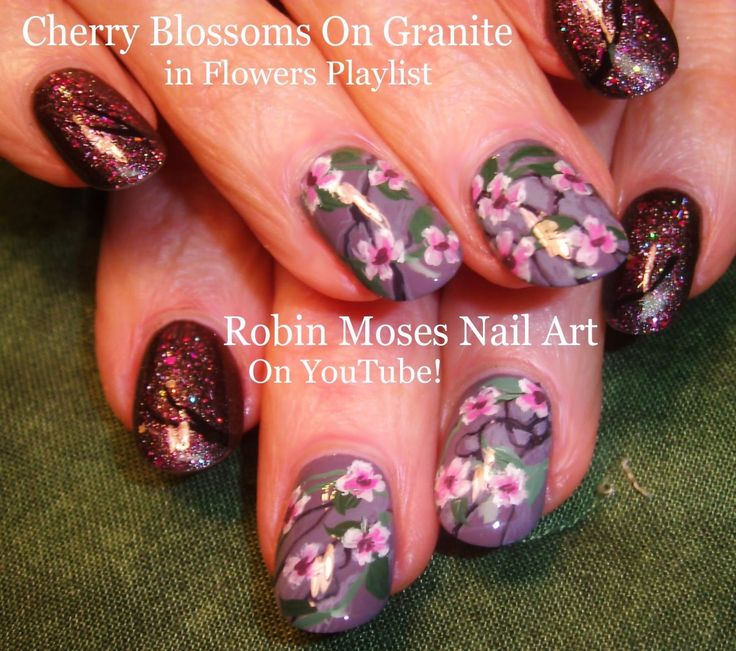 The 341 best Flower Nail Art Gallery with full Tutorials images on ...