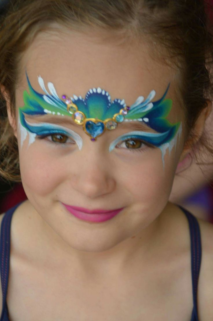 Bright face paint body face paints 1003 blue paint blue color - Princess Design One Stroke Find This Pin And More On Face Painting