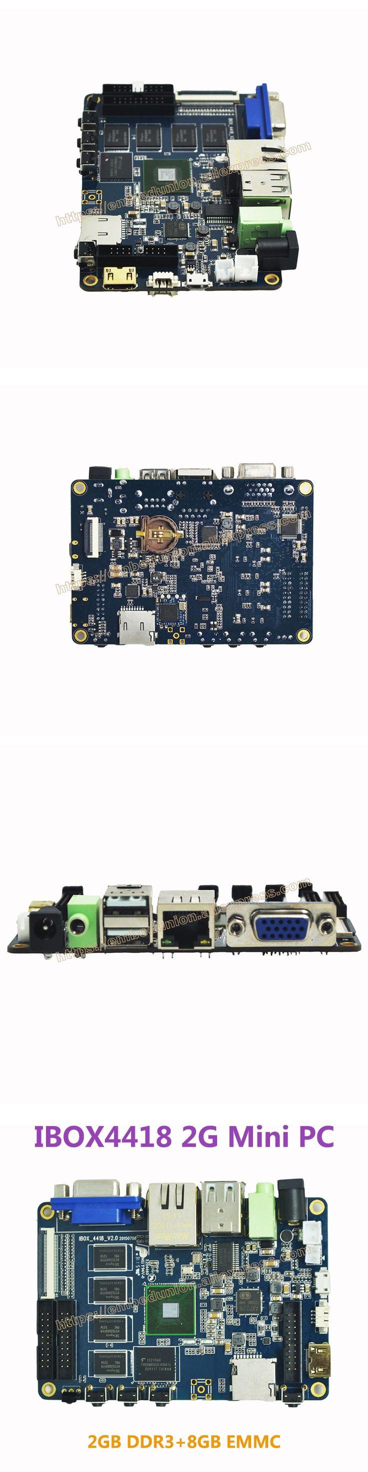 Ibox4418 2G Mini PC S5P4418 ARM Cortex-A9 Quad Core 2GB DDR3 8GB EMMC Demo Board Mini PC