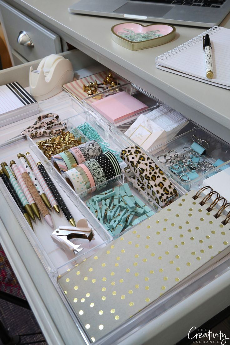 Tips and products for organizing creative drawers – #creative #organize #pro