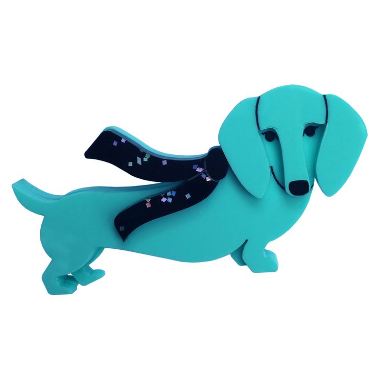 DASHING DIXIE DOXIE brooch by Louisa Camille