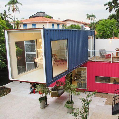 As fachadas de casas container é ótima opção para quem deseja uma construção rápida, econômica e ecologicamente correta, veja 35 imagens para te inspirar                                                                                                                                                                                 Mais