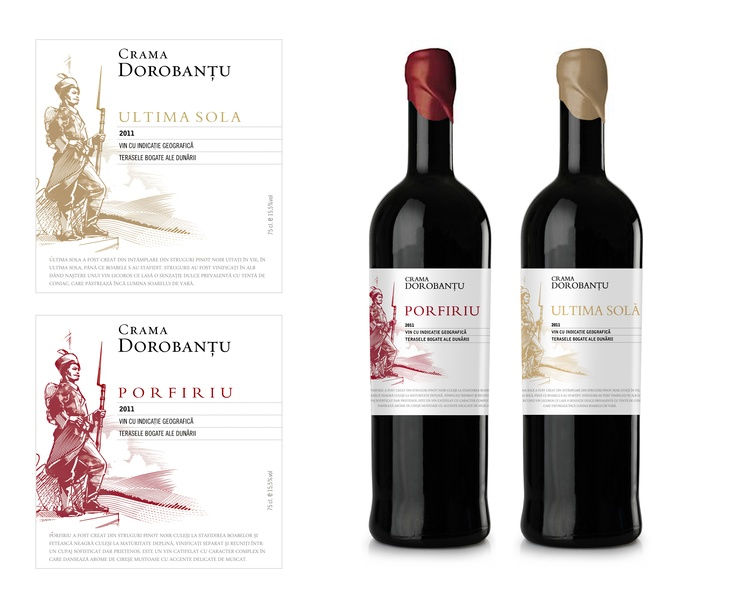 packaging for a wine brand