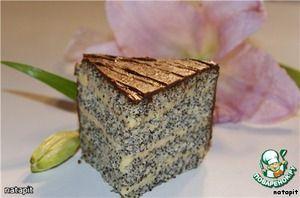 Нежный маковый торт - кулинарный рецепт