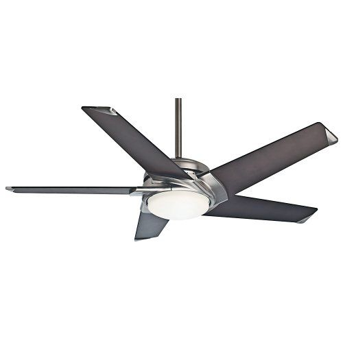 In the spirit of contemporary design form follows function in the Stealth DC ceiling fan's fluid contours swept wing blades and integrated halogen lighting. This 54-inch 5 blade fan lives up to it...