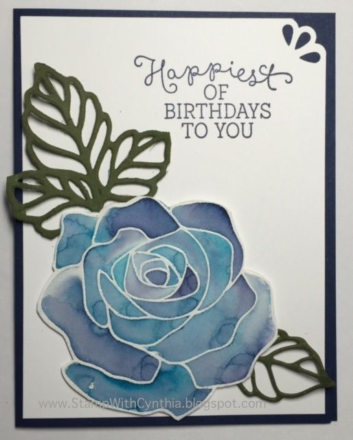 Rose Wonder Card done with the Floating re-inker technique, Stampin' Up! Occasions Catalogue