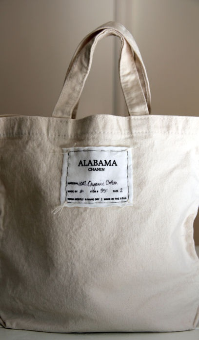 alabama chanin cotton tote bag