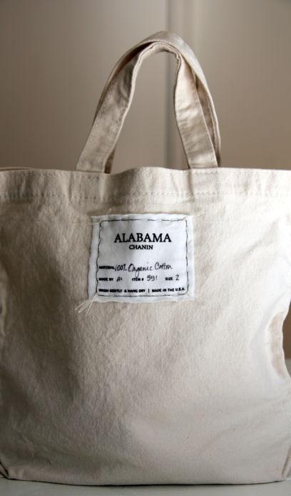 alabama chanin cotton tote bag