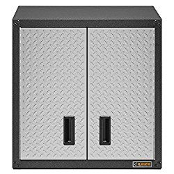 Garage Wall Cabinet Product Features: The tab and loop design on all of the panels minimizes the need for hardware and removes guesswork in assembly. The Wall Bracket Kit moves your cabinet up off …