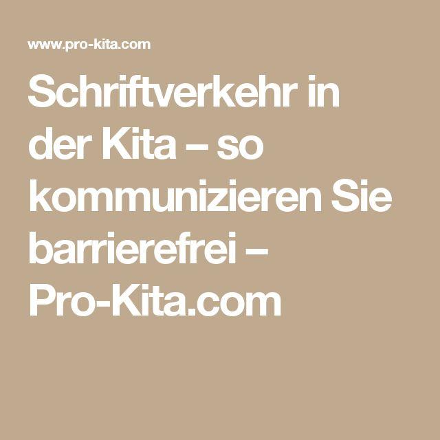 Schriftverkehr in der Kita – so kommunizieren Sie barrierefrei – Pro-Kita.com