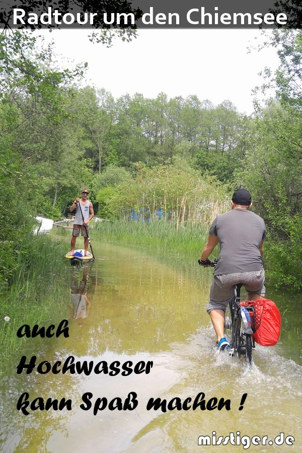 Chiemsee Fahrradtour Abenteuer Hochwasser Fahrradtour