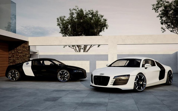 Audi R8 - Black & White | Cars | Pinterest