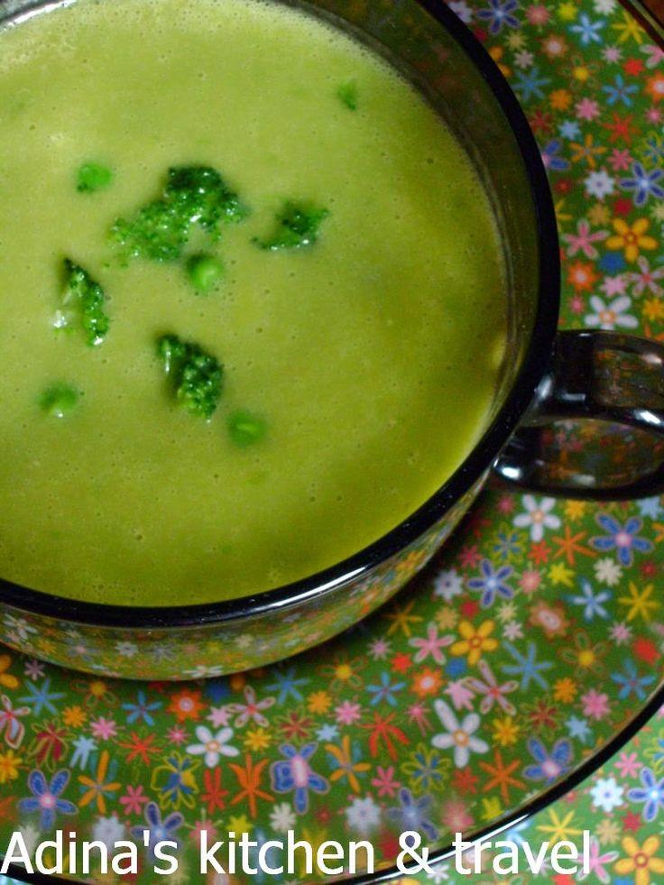 Adina's kitchen & travel: Supa crema de mazare si broccoli
